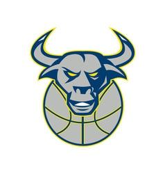 Texas longhorn bull head basketball vector