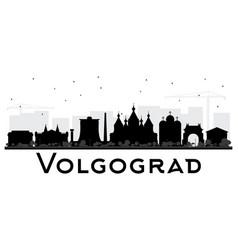 Volgograd russia city skyline silhouette with vector
