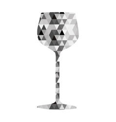 wine triangle mosaic icon image vector image