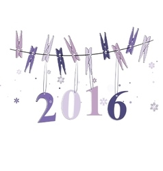 Winter background of 2016 vector image