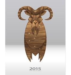 wooden goat vector image vector image