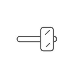 Wooden hammer icon in linear style vector