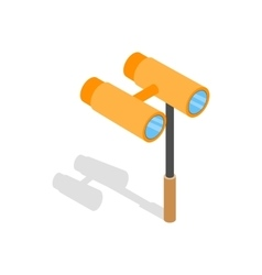 Opera glasses icon isometric 3d style vector