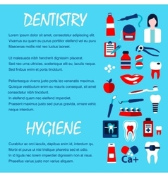 Dentistry and dentist office design template vector