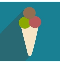 Flat with shadow icon and mobile applacation ice vector