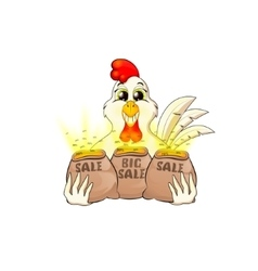 Rooster sale symbol of 2017 vector