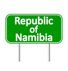 Republic of namibia road sign vector