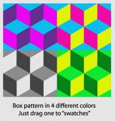 box pattern vector image