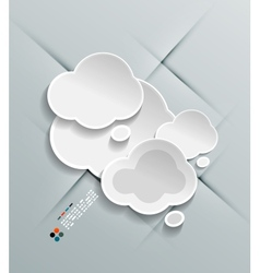 Paper cloud modern design vector