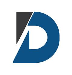 creative letter d logo design template vector image