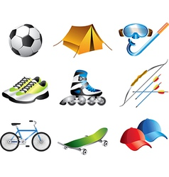 Icons sportshop vector