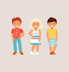 fashion kids vector image