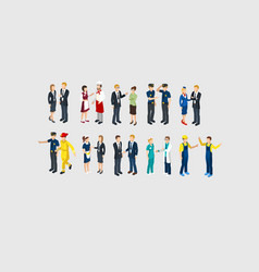 Isometric profession characters set vector