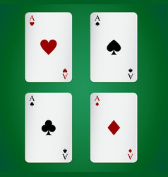 Aces playing cards individually vector