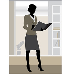 Businesswoman office vector