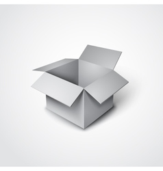 3d open box in a realistic style vector
