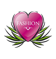 Logo red heart for fashion vector