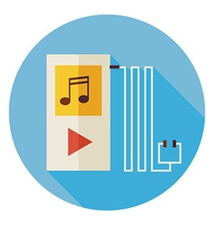 Flat electronic technology music player circle vector