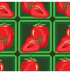 Seamless pattern of ripe strawberries vector