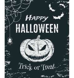 Grunge happy halloween poster template vector