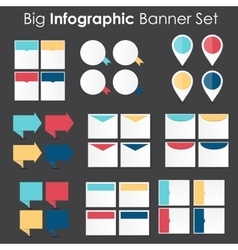 Big set of infographic banner templates for your vector