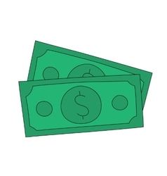 Dollar notes vector