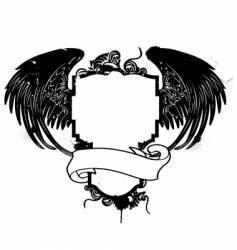 grunge crest vector image