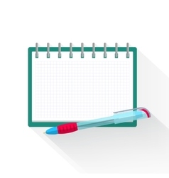 Agenda paper and pen for planning one action list vector