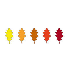 autumn leaves icons vector image
