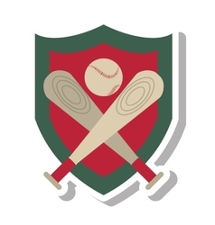 baseball bat isolated icon vector image vector image