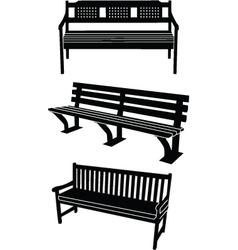 benchs vector image vector image