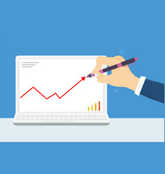 businessmen are writing goals with pens vector image vector image