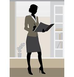 businesswoman office vector image vector image