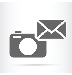 camera web letter icon vector image vector image