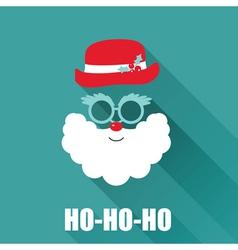 Christmas retro santa card vector