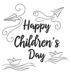 Doodle childrens day style collection vector
