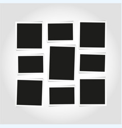 empty photo frames layout vector image