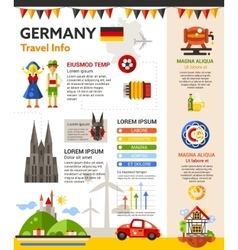Germany Travel Info - poster brochure cover vector image vector image