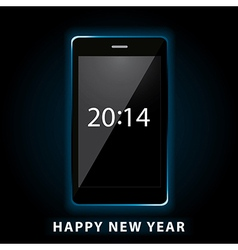 happy new year phone vector image vector image