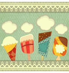 Ice cream retro price vector image