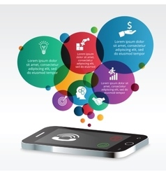 Isometric mobile phone vector