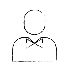 Man pictogram wearing bowtie icon image vector