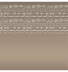 Pattern with lacy design vector image vector image