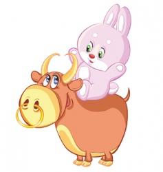 rabbit horoscope vector image vector image