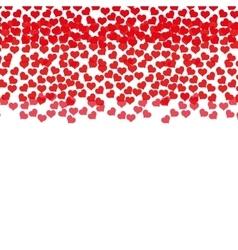 rain red hearts love design vector image