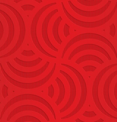 Red turning arcs on checkered background vector image vector image
