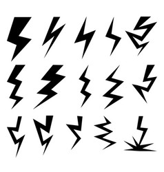 Set of thunder and lighting collection vector