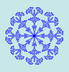 snowflake sign 2611 vector image