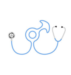 stethoscope in shape of male symbol vector image vector image