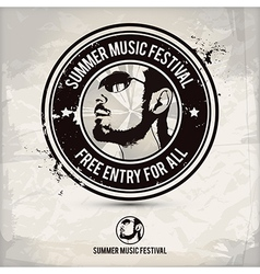 summer music festival stamp vector image